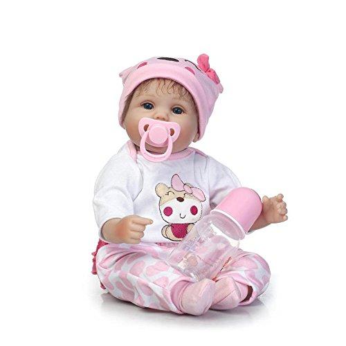 NPKDOLL Handgemachte Weiche Simulation Silikon Reborn Baby Lebensechte Puppe 18 Zoll 45 cm Jungen Mädchen Geschenk Puppe für Kinder Geburtstag und Weihnachten a165