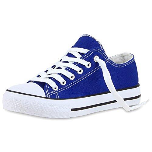 Sneakers best-boots da donna scarpe da ginnastica atletica scarpe Cords Slipper Dunkelblau