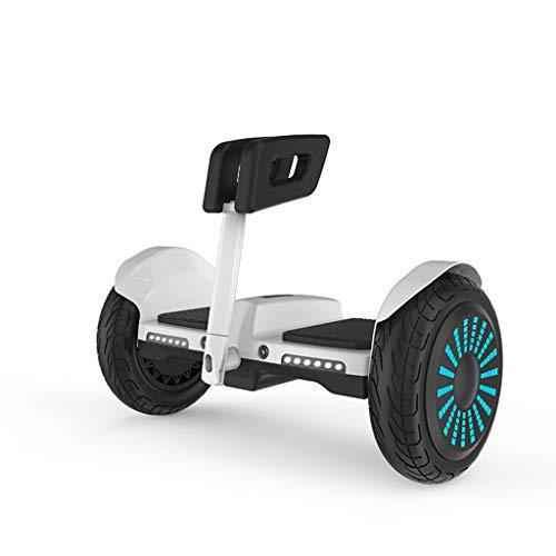 FYJ Hover Scooter Junta Auto-Off-Balancing Vespa Scooter eléctrico Carretera Todo Terreno Segway'Built Bluetooth App LED con Motor de Gran Alcance,Blanco