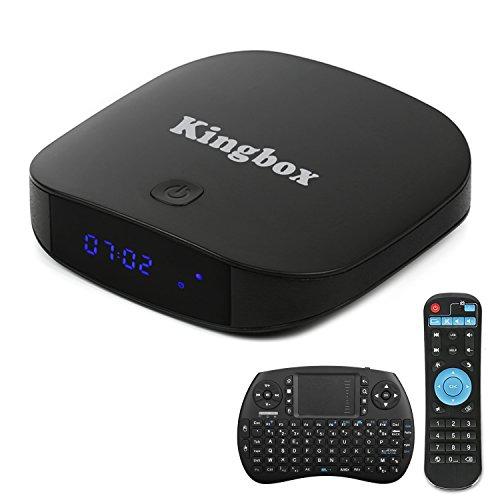 Kingbox - [2018 Dernière Version] K1 PLUS Android 7.1 TV Box 2 Go de RAM + 8 Go de ROMsupporte H.265 / Penta-Core / BT 4.0/ 3D etc avec mini clavier sans fil
