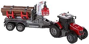 Dickie Toys 203737003 Massey Ferguson 8737 203737003-Massey Friktion, luz, Sonido y Colgante, Funciona con Pilas, 42 cm