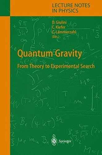 Quantum Gravity: From Theory to Experimental Search (Lecture Notes in Physics) (2003-11-05)
