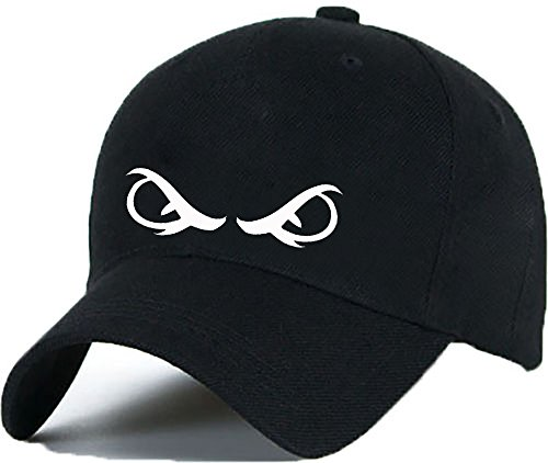 Bonnet Casquette Snapback Baseball Yeux Eyes OMG 1994 Hip-Hop en Noir / Blanc avec les ASAP Bad Hair Day (White)