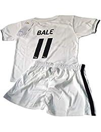 Conjunto Camiseta y Pantalon 1ª Equipación 2018-2019 Real Madrid - Réplica  Oficial Licenciado - Dorsal 11 Bale… 163e4de6df0a0