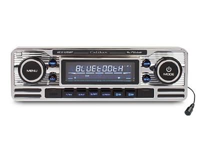 Caliber RCD120BT 1 Din Retro Car Radio with Bluetooth/CD/USB/SD FM Tuner and AUX-Input - Chrome