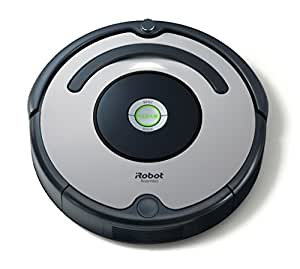 iRobot Roomba 615 Aspirateur Robot, Système de Nettoyage Puissant, Aspire Tapis, Moquettes et Sols Durs, Idéal pour les Poils d'Animaux, Argent