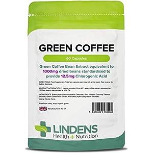 Lindens – Green Coffee 1000 mg (12,5 mg Chlorogensaure – 60 Pack