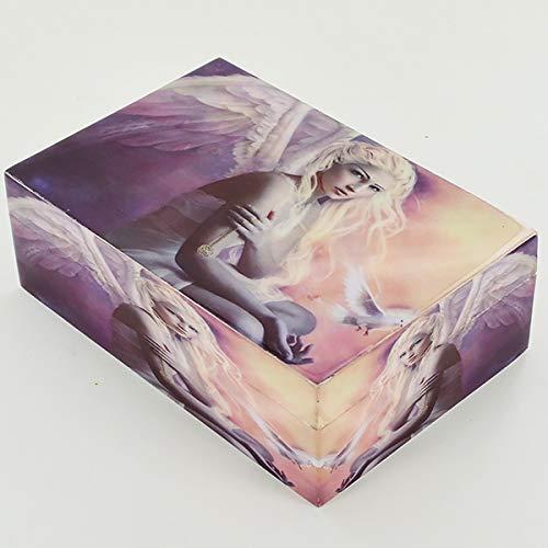 Prezentscom Engelsbox Holzdose mit Deckel für Schmuck Gothic Pagan Fantasy Geschenk