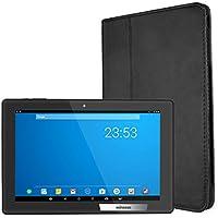 Tablette Tactile 10.1 Pouces WiFi - Winnovo MiTab Pro Android 6.0 avec Housse de Protection Supporte Netflix 3.4.0.0 Build 5523 Octa-Core 32Go ROM 2Go RAM Double Caméra en Cuir 6000 mAh Batterie