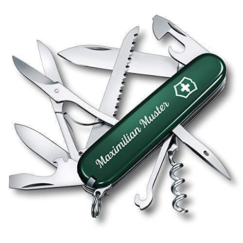 Victorinox- Schweizer Taschenmesser Huntsman mit Personalisierung (Grün)