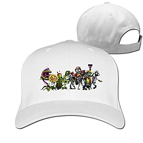 thna plants VS Zombies Garden Warfare réglable Fashion Casquette de baseball - Blanc - Taille Unique