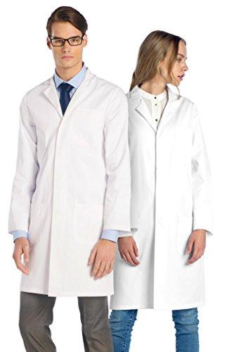 Dr. James Laborkittel in Weiß für Damen und Herren • 245 gr./m² Labtex Gewebe DE-01-M
