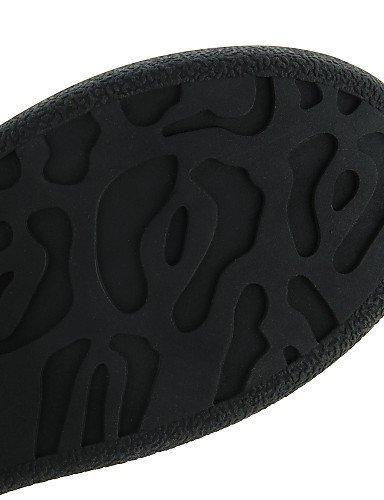 ShangYi gyht Scarpe Donna - Stringate - Casual - Creepers - Plateau - Finta pelle - Nero / Bianco Black