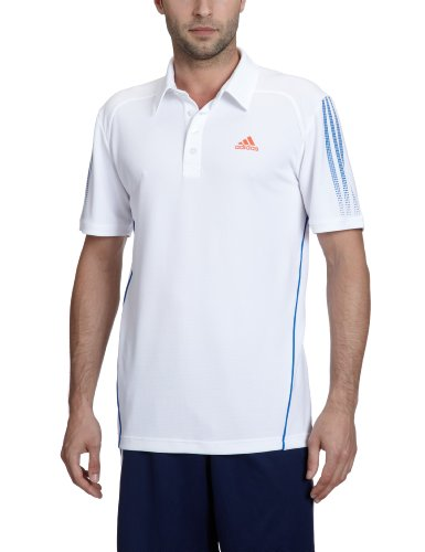 adidas Herren Polo Response Traditional white/prime blue