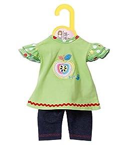 Zapf Dolly Moda 870068 Accesorio para muñecas Juego de ropita para muñeca - Accesorios para muñecas (Juego de ropita para muñeca, 3 año(s), Azul, Verde, 38-46 cm, 225 mm, 9 mm)