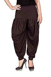 Navyataa Womens Lycra Dhoti Pants For Women Patiyala Dhoti Lycra Salwar Free Size Brown Color