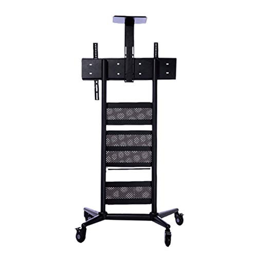 Exing Beweglicher TV-Stand, Rolling TV Cart Mobile TV Stand Ultra Heavy Duty TV Trolley Für Flat Screen Panel Mobile Rolling Stand/Dual Shelves Und 4