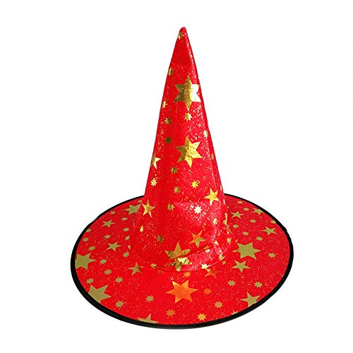 Kostüm Halloween Ringmaster - Ganze Hexe Hüte Maskerade Band Wizard Hut Party Hüte Caps Kostüm Zubehör Halloween Party Kostüm Dekor (Color : Olive, Size : L)