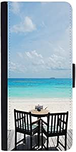 Snoogg Beautiful Beach Bar View In Maldives Designer Protective Flip Case Cov...