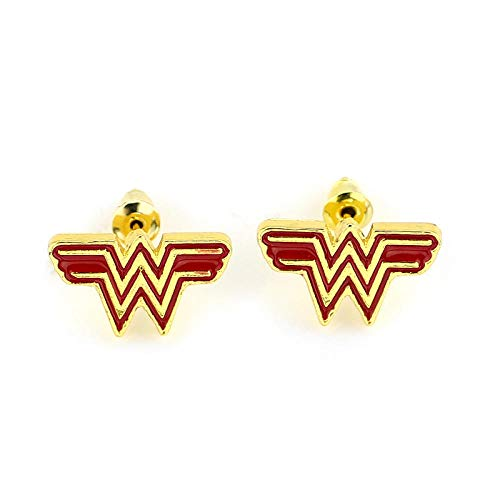 Schmuck Damen Ohrringe Avengers Wonder Woman Hero Ohrringe Ohrstecker Ohren (Wonder Woman Ohrringe)