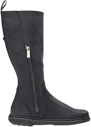 Dr.Martens Womens Caite Oily Illusion Knee High Leather Boots Noir