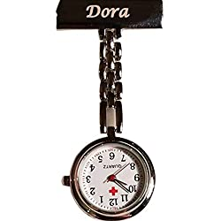 Boxstal Personalised Nurses Fob Watch - Engraved with a Name on the Front Bar - Best Graduation Gift