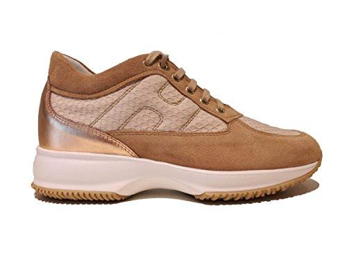 HOGAN interactive Zapatillas shoes sneakers sneaker de Caucho para Mujer Beige Size 38 5 EU