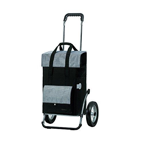 Andersen Einkaufstrolley Royal und Einkaufstasche Milla Schwarz 49 Liter Einkaufswagen Stahlgestell klappbar