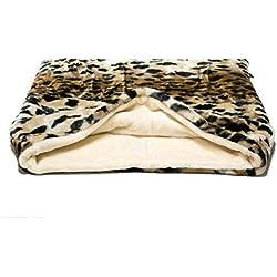 Snuggle saco/saco de dormir/Mascotas Cama para perros y gatos por Pet de Lola Lynx y crema