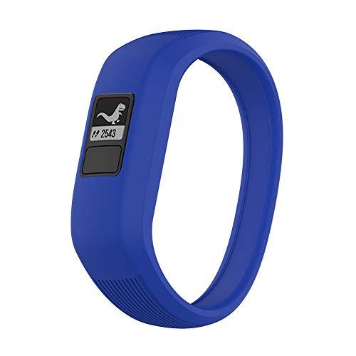 DNelo Reemplazo de Silicona Correa de Reloj Pulsera para Garmin Vivofit Jr/Jr 2 / Vivofit 3 - Azul Oscuro S