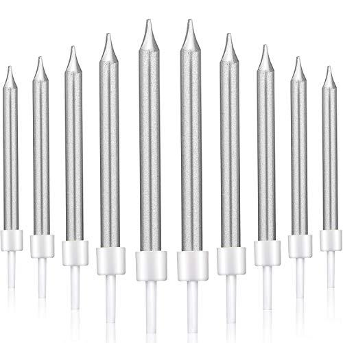 Kerzenständer 25ter Geburtstag LED-Tortenkerzen-Set als 25 Geburtstagskerzen