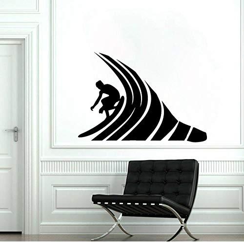 Wandsticker Aufkleber Wohnzimmer Garderobe Flur Fenster Wohnung Kinderzimmer Badezimmer Surfen 49X41Cm