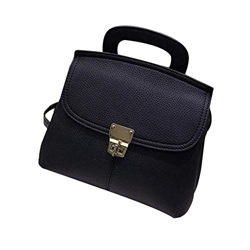 tellw Damen Freizeit Travel Shopping Mini Rucksack Tasche schwarz - schwarz