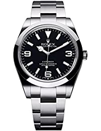 Rolex Explorer 39 mm, de acero inoxidable reloj esfera de color negro 214270 unworn