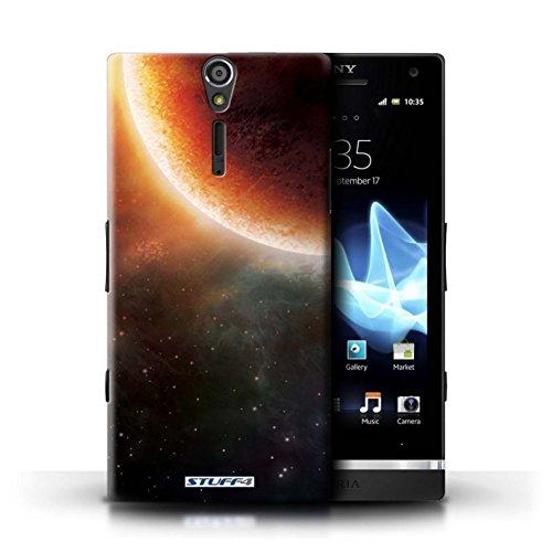 Kobalt® Imprimé Etui / Coque pour Sony Xperia S/LT26i / Planète Verte conception / Série Cosmos Éclipse Orange