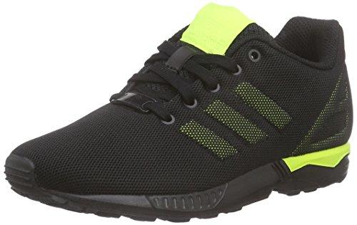 adidas Originals ZX Flux K S74953, Unisex-Kinder Low-Top Sneaker, Schwarz (Core Black/Solar Yellow/Solar Yellow), EU 38