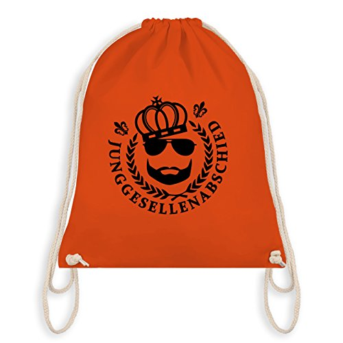 JGA Junggesellenabschied - JGA King Vollbart - Turnbeutel I Gym Bag Orange