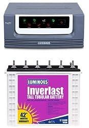 Luminous Eco Volt 1050 Inverter with LT550N 18000 160Ah Tubular Battery