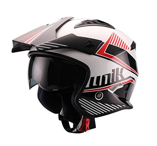 UNIK - Casco JET Trial CT-07 Blanco