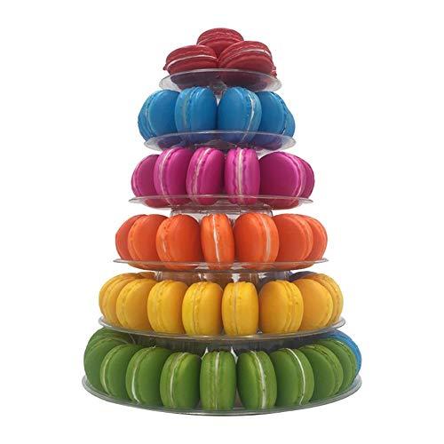 Kuchen Stand, 6 Tier Cupcake steht Macaron Turm Kuchen Acryl Tiered klar Dessert Tower Display Halter für Hochzeit Geburtstag Weihnachtsfeier