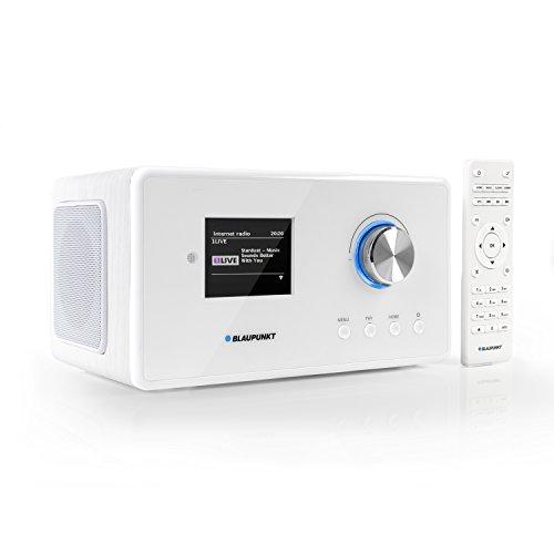 Blaupunkt IRD 300 Wlan Internet Radio, DAB+, Bluetooth, UKW-Empfang, Küchen- oder Büroradio, Radiowecker und Uhrenradio, Farb-Display mit App-Funktion, Miniradio inkl. Fernbedienung
