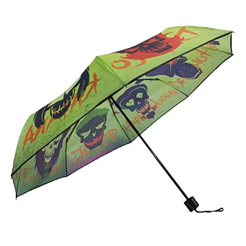 Offizielle DC Suicide Squad Schädel Folding Umbrella - Womens Damen Accessoires