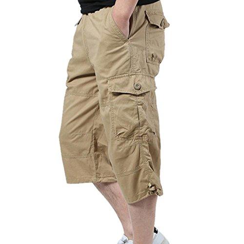 Uomo-Pantaloncini-Styledresser-Corti-Bermuda-Cargo-Pantalone-tuta-fitness-sportivi-con-Polsini-Sport-Palestra-Pantaloncini-Outdoor-Spiaggia
