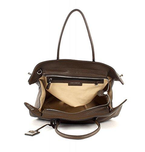 Coccinelle Sheela Bubble Shopper Sac à main Fourre-tout cuir 31 cm Kaki (Marron)
