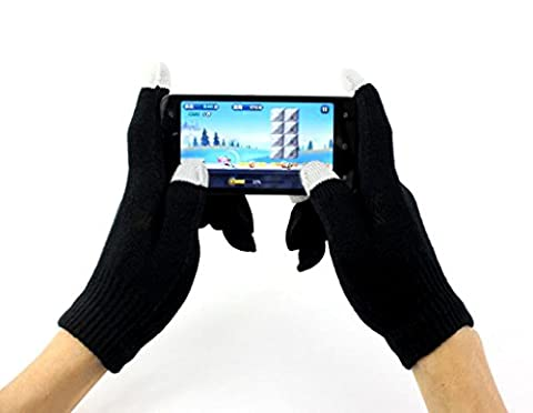 Gants Femme, Kolylong® Gants D'éCran Unisexe Magic Touch Texting Smartphone IPhone Stretch Hiver Tricot (Noir)