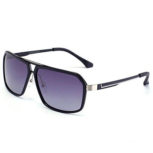 RAQ Sonnenbrille Polarisierte Sonnenbrille Persönliche Brillen Metall Full Frame Objektiv Mode Hipster Gläser Im Freien (Farbe : A) (Augenschutz Persönlicher)