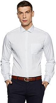 Diverse Men's Printed Regular Fit Cotton Formal S