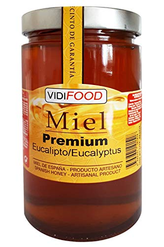 Miel de Eucalipto Premium - 1kg - Producida en España - Alta Calidad, tradicional & 100{e3694d789b6e039036af1309a033567a325b08054028c29f763c5e2d19f8ba57} pura - Aroma Amaderado Intenso, Sabor Rico y Dulce - Amplia variedad de Deliciosos Sabores