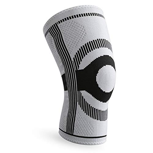 FREETOO Kniebandage Kniestütze mit Wunderbare Rutschfestigkeit &Atmungsaktivität,Schmerzlinderung&Stabilität geeignet für Fußball,Volleyball, Tennis, Bergsteigen, Jogging (Tennis Männer Volleyball)