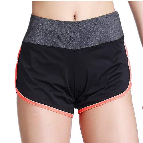 NYSLTC Sportshorts Laufshorts mit gefütterten, dünnen Yoga-Shorts für Sportshorts Orange Rot M -